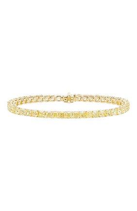 Женский браслет MERCURY бесцветного цвета, арт. MB25840/YG/1CUD0.40 | Фото 1 (Материал сплава: Желтое золото; Драгоценные камни: Бриллианты)