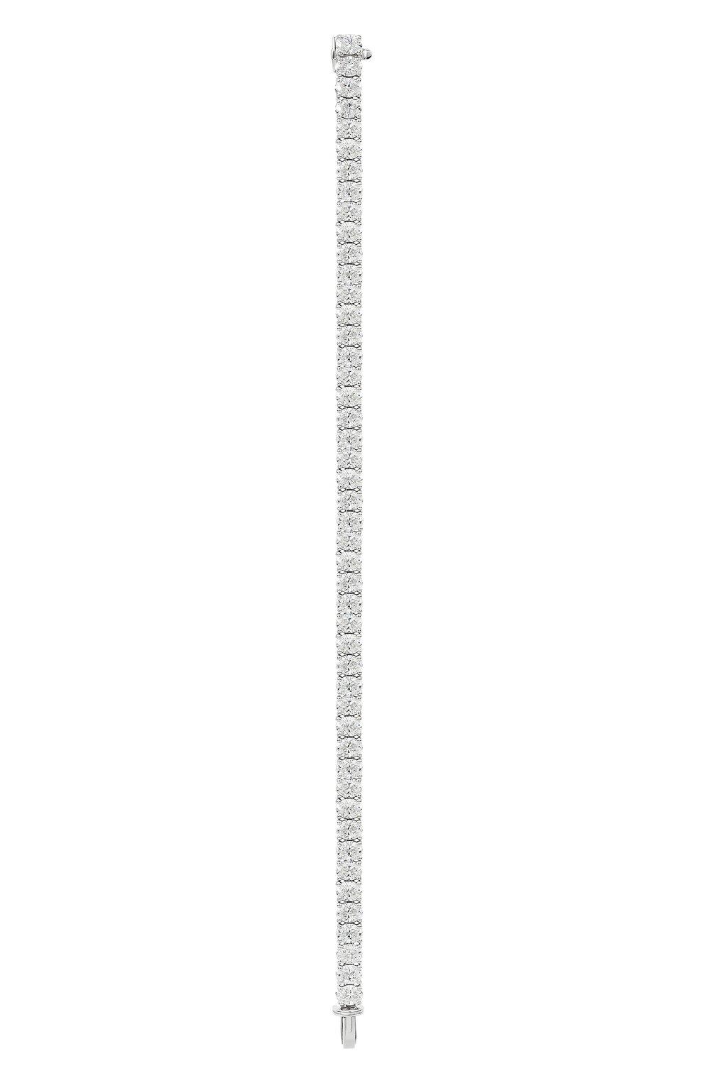 Женский браслет MERCURY бесцветного цвета, арт. MB25969/WG/1OVD0.25   Фото 2 (Материал сплава: Белое золото; Драгоценные камни: Бриллианты)
