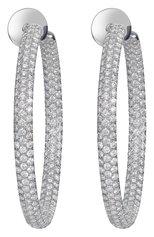 Женские серьги-кольца MERCURY бесцветного цвета, арт. ME22826/WG/HP2.00   Фото 1 (Материал сплава: Белое золото; Драгоценные камни: Бриллианты)