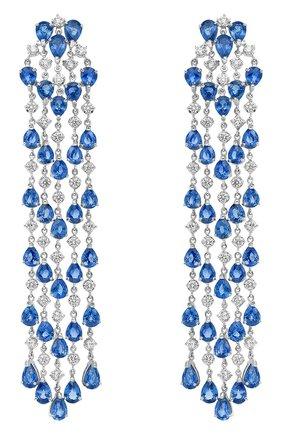 Женские серьги chandelier MERCURY бесцветного цвета, арт. MEM3669WS   Фото 1 (Материал сплава: Белое золото; Драгоценные камни: Бриллианты)