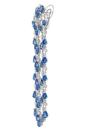 Женские серьги chandelier MERCURY бесцветного цвета, арт. MEM3669WS   Фото 2 (Материал сплава: Белое золото; Драгоценные камни: Бриллианты)