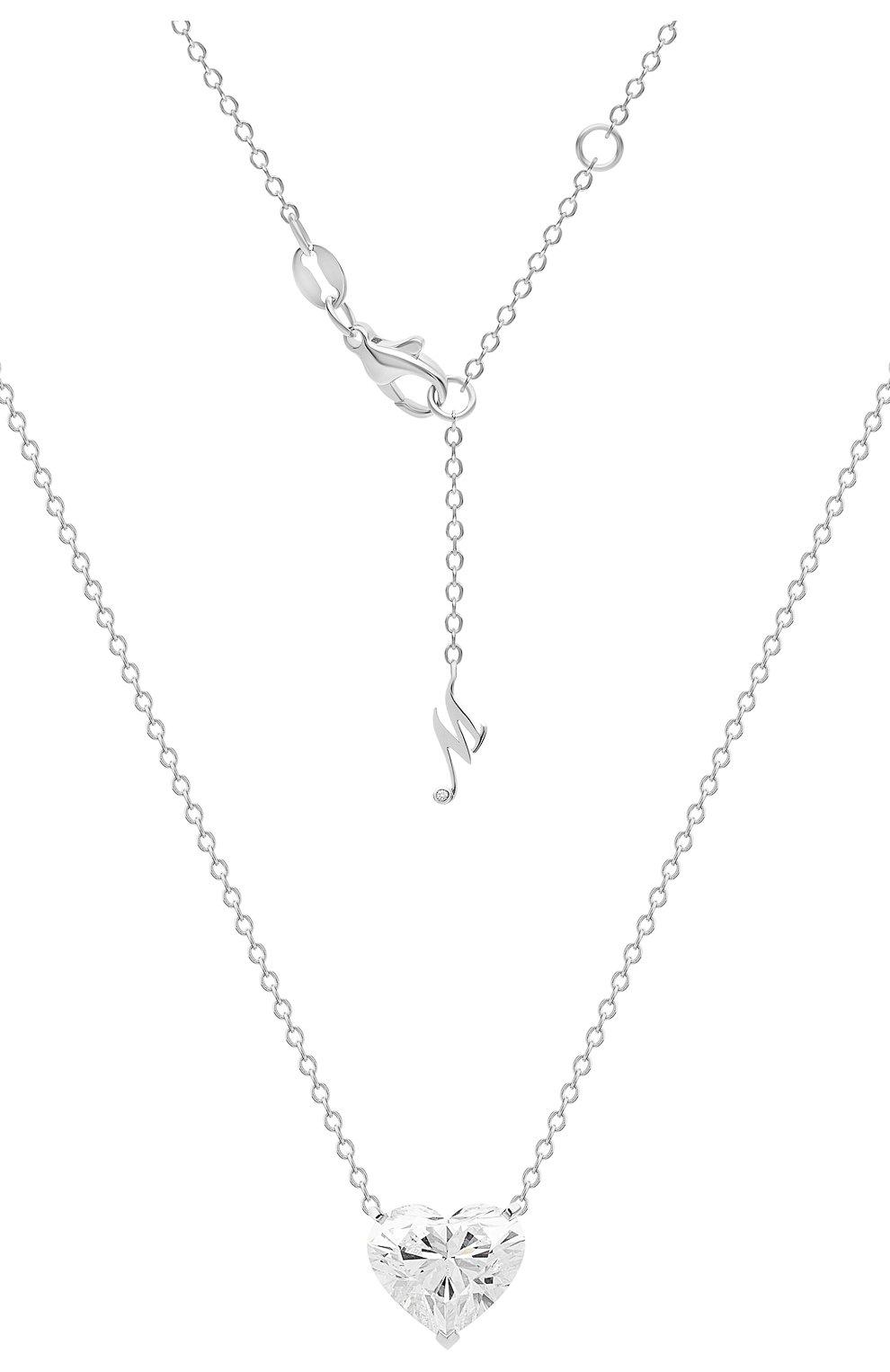 Женские кулон MERCURY бесцветного цвета, арт. MP200WHD | Фото 1 (Материал сплава: Белое золото; Драгоценные камни: Бриллианты)