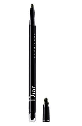 Женские водостойкая подводка для глаз diorshow 24h stylo, 040 искрящийся черный DIOR бесцветного цвета, арт. C014300040 | Фото 1