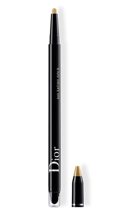 Женские водостойкая подводка для глаз diorshow 24h stylo, 640 атласное золото DIOR бесцветного цвета, арт. C014300640 | Фото 1