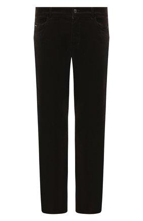 Мужской брюки из хлопка и кашемира ZILLI коричневого цвета, арт. M0U-D0190-VECA1/R001 | Фото 1