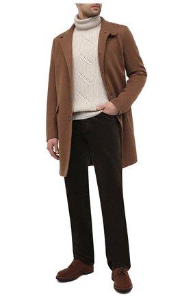 Мужской брюки из хлопка и кашемира ZILLI коричневого цвета, арт. M0U-D0190-VECA1/R001 | Фото 2