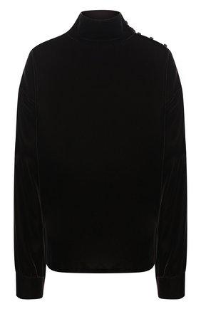 Женская бархатная блузка RALPH LAUREN коричневого цвета, арт. 293835467 | Фото 1