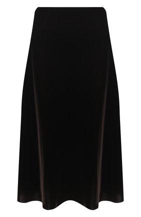 Женская бархатная юбка RALPH LAUREN коричневого цвета, арт. 293835455 | Фото 1