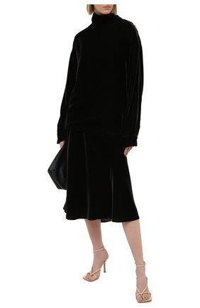 Женская бархатная юбка RALPH LAUREN коричневого цвета, арт. 293835455 | Фото 2