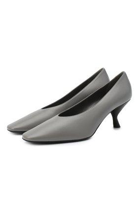 Женские кожаные туфли PRADA серого цвета, арт. 1I409M-038-F0K44-065 | Фото 1