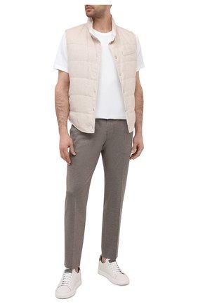 Мужской брюки BOSS темно-бежевого цвета, арт. 50444074 | Фото 2