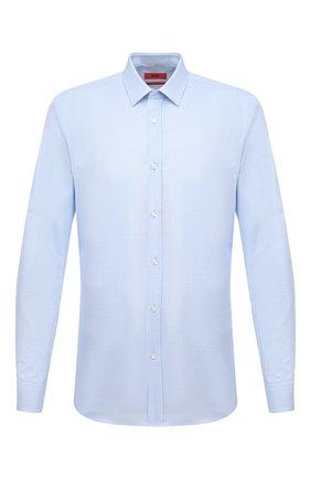 Мужская хлопковая сорочка HUGO голубого цвета, арт. 50443561 | Фото 1