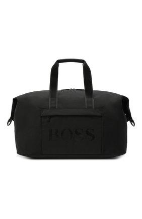 Мужская спортивная сумка BOSS черного цвета, арт. 50446727 | Фото 1