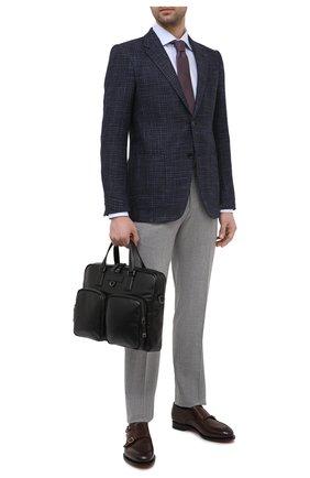 Мужская кожаная сумка для ноутбука BOSS черного цвета, арт. 50446701 | Фото 2