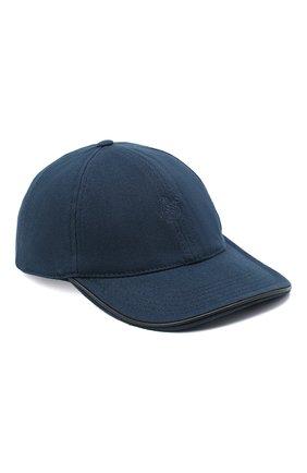 Мужской хлопковая бейсболка VILEBREQUIN темно-синего цвета, арт. CPIH0400/390 | Фото 1