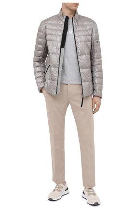 Мужской хлопковые брюки BOGNER бежевого цвета, арт. 18616509 | Фото 2