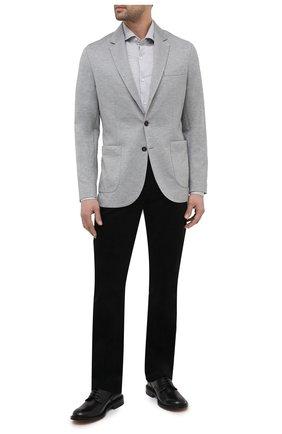 Мужские брюки из хлопка и кашемира ZILLI черного цвета, арт. M0U-D0190-VECA1/R001 | Фото 2