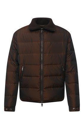 Мужская пуховая куртка DOLCE & GABBANA коричневого цвета, арт. G9TU2T/HUMJD | Фото 1