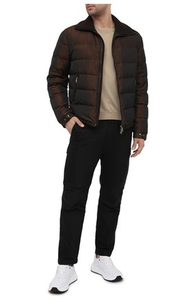 Мужская пуховая куртка DOLCE & GABBANA коричневого цвета, арт. G9TU2T/HUMJD | Фото 2