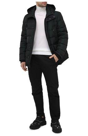 Мужская пуховик DOLCE & GABBANA темно-зеленого цвета, арт. G9009T/HUMJD   Фото 2 (Материал подклада: Синтетический материал; Рукава: Длинные; Стили: Кэжуэл; Кросс-КТ: Куртка; Материал внешний: Синтетический материал; Мужское Кросс-КТ: пуховик-короткий; Материал утеплителя: Пух и перо; Длина (верхняя одежда): До середины бедра)