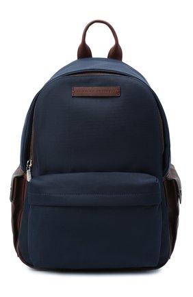 Мужской текстильный рюкзак BRUNELLO CUCINELLI синего цвета, арт. MBLBU243 | Фото 1