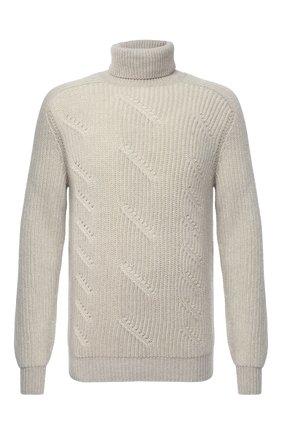 Мужской кашемировый свитер LORO PIANA светло-бежевого цвета, арт. FAL3877 | Фото 1