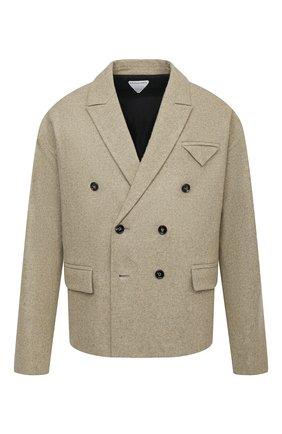 Мужской шерстяной пиджак BOTTEGA VENETA светло-бежевого цвета, арт. 651616/V0AX0   Фото 1