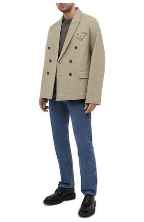 Мужской шерстяной пиджак BOTTEGA VENETA светло-бежевого цвета, арт. 651616/V0AX0   Фото 2
