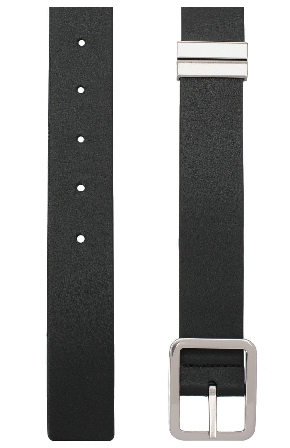 Мужской кожаный ремень BOTTEGA VENETA черного цвета, арт. 649371/VA9B0 | Фото 2 (Случай: Повседневный)