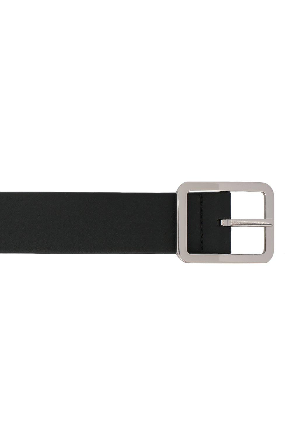 Мужской кожаный ремень BOTTEGA VENETA черного цвета, арт. 649371/VA9B0 | Фото 3 (Случай: Повседневный)