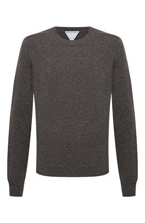 Мужской шерстяной свитер BOTTEGA VENETA серого цвета, арт. 648380/V0AM0 | Фото 1 (Длина (для топов): Стандартные; Рукава: Длинные; Материал внешний: Шерсть; Принт: Без принта; Мужское Кросс-КТ: Свитер-одежда; Стили: Классический)