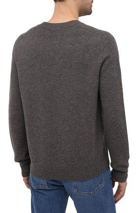 Мужской шерстяной свитер BOTTEGA VENETA серого цвета, арт. 648380/V0AM0   Фото 4 (Материал внешний: Шерсть; Рукава: Длинные; Принт: Без принта; Длина (для топов): Стандартные; Стили: Классический; Мужское Кросс-КТ: Свитер-одежда)