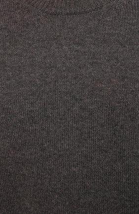 Мужской шерстяной свитер BOTTEGA VENETA серого цвета, арт. 648380/V0AM0   Фото 5 (Материал внешний: Шерсть; Рукава: Длинные; Принт: Без принта; Длина (для топов): Стандартные; Стили: Классический; Мужское Кросс-КТ: Свитер-одежда)