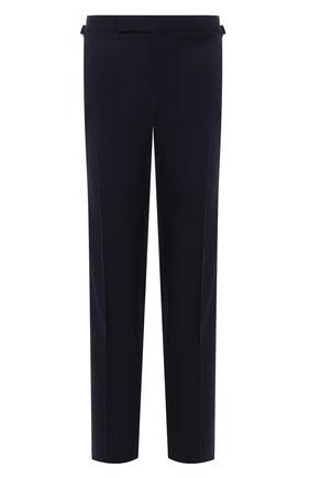 Мужские шерстяные брюки TOM FORD темно-синего цвета, арт. Q11R03/610043 | Фото 1