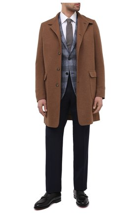 Мужские шерстяные брюки TOM FORD темно-синего цвета, арт. Q11R03/610043 | Фото 2