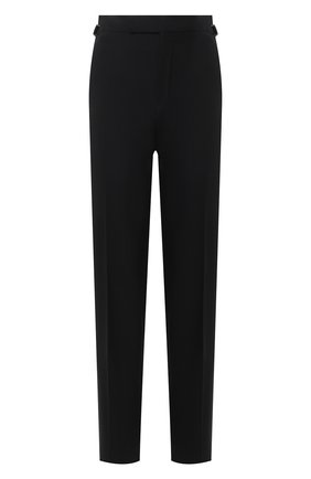 Мужские шерстяные брюки TOM FORD черного цвета, арт. Q22R12/610043 | Фото 1