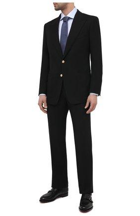 Мужские шерстяные брюки TOM FORD черного цвета, арт. Q22R12/610043 | Фото 2