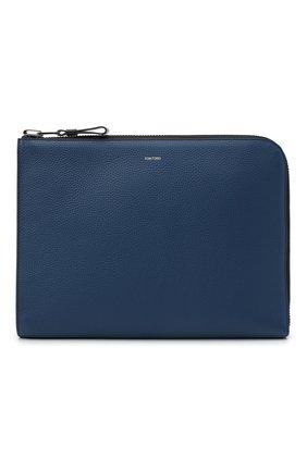 Мужская кожаная папка для документов TOM FORD синего цвета, арт. H0355P-LCL037 | Фото 1