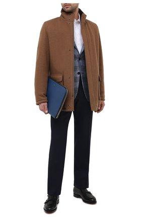Мужская кожаная папка для документов TOM FORD синего цвета, арт. H0355P-LCL037 | Фото 2
