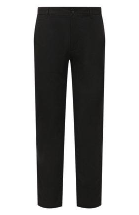 Мужские хлопковые брюки BURBERRY черного цвета, арт. 8018098 | Фото 1