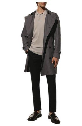 Мужские хлопковые брюки BURBERRY черного цвета, арт. 8018098 | Фото 2