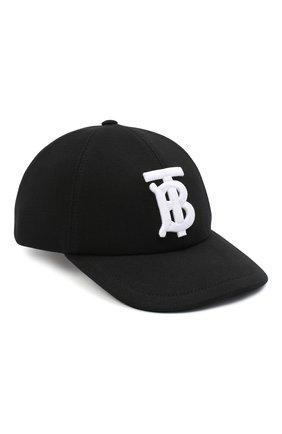 Мужской хлопковая бейсболка BURBERRY черного цвета, арт. 8038141 | Фото 1