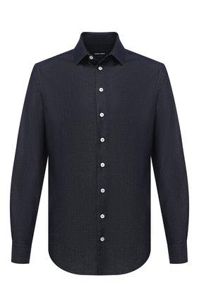 Мужская джинсовая рубашка GIORGIO ARMANI темно-синего цвета, арт. 3KSC62/SD0VZ | Фото 1