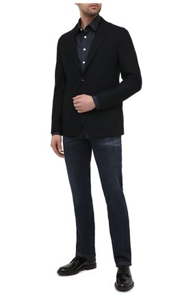 Мужская джинсовая рубашка GIORGIO ARMANI темно-синего цвета, арт. 3KSC62/SD0VZ | Фото 2