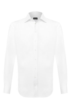 Мужская льняная рубашка GIORGIO ARMANI белого цвета, арт. 8WGCCZMC/TZ256 | Фото 1