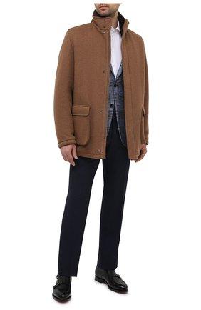 Мужская льняная рубашка GIORGIO ARMANI белого цвета, арт. 8WGCCZMC/TZ256 | Фото 2