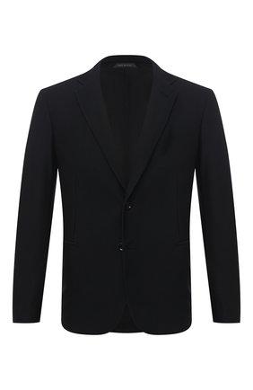 Мужской пиджак GIORGIO ARMANI черного цвета, арт. 9SGGG06L/J0008   Фото 1