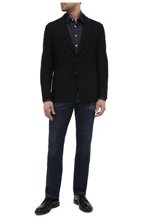 Мужской пиджак GIORGIO ARMANI черного цвета, арт. 9SGGG06L/J0008   Фото 2