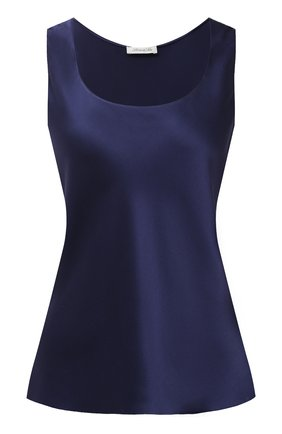 Женская шелковый топ LUNA DI SETA темно-синего цвета, арт. L630006 | Фото 1