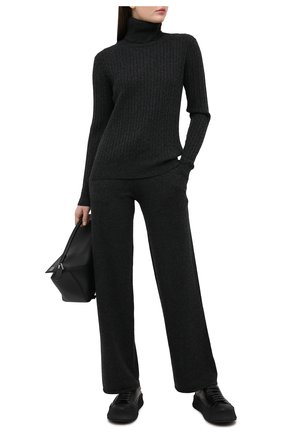 Женские кашемировые брюки ADDICTED темно-серого цвета, арт. MK724 | Фото 2